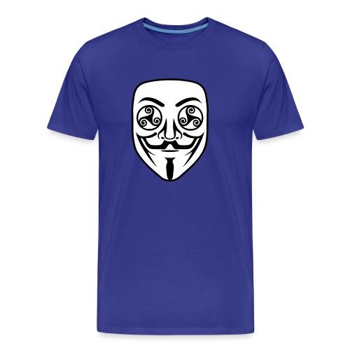 Anonymous breton triskel - T-shirt Premium Homme