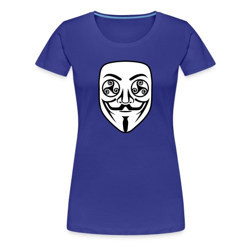 Anonymous breton triskel - T-shirt Premium Femme