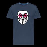 Tee shirts ~ T-shirt Premium Homme ~ Anonymous lunette de stars