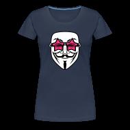 Tee shirts ~ T-shirt Premium Femme ~ Anonymous lunette de stars