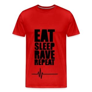Rood shirt  - Mannen Premium T-shirt