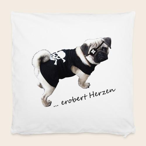 Kissenbezug Mops Erobert Herzen - Kissenbezug 40 x 40 cm
