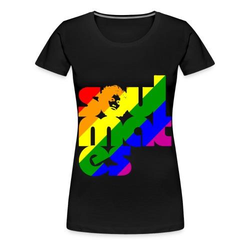 Soulmates Pride Colors T-shirt - Premium-T-shirt dam