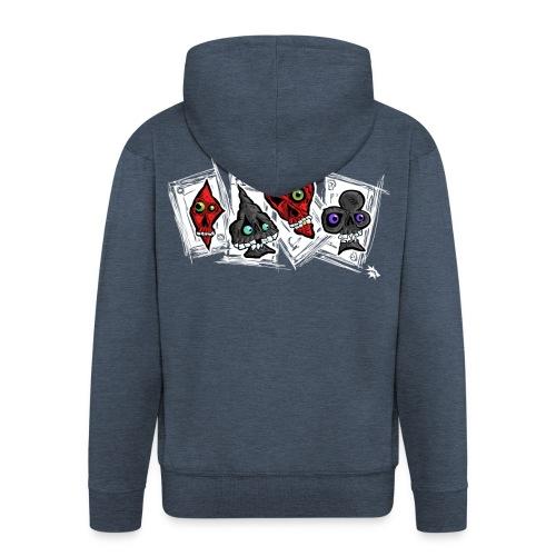 Poker Faces Hoodie - Men's Premium Hooded Jacket