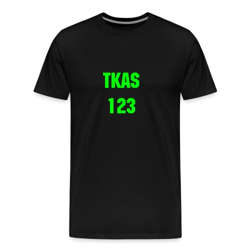 Tkas123 NEON T-Shirt [Men | Black] - Men's Premium T-Shirt