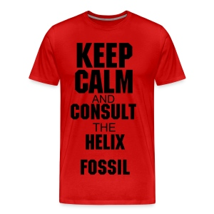 Helix Fossil Red - Men's Premium T-Shirt