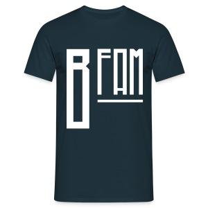 B-Fam T-Shirt w/ BB Quote (Navy) - Men's T-Shirt