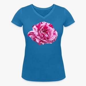 Rose zébrée - Women's Organic V-Neck T-Shirt by Stanley & Stella