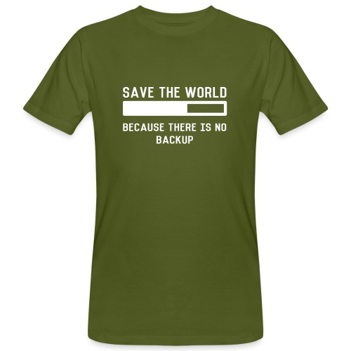 Save The World - Männer Bio-T-Shirt