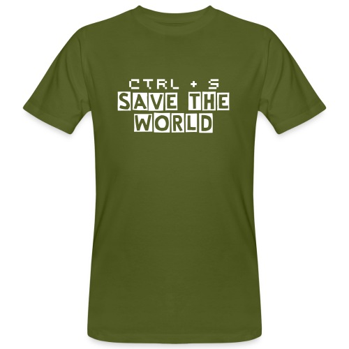 Ctrl + S Save the World  - Männer Bio-T-Shirt