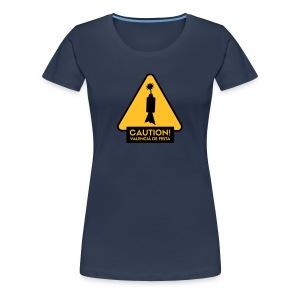 Caution! Valencià de festa - Xica  - Camiseta premium mujer
