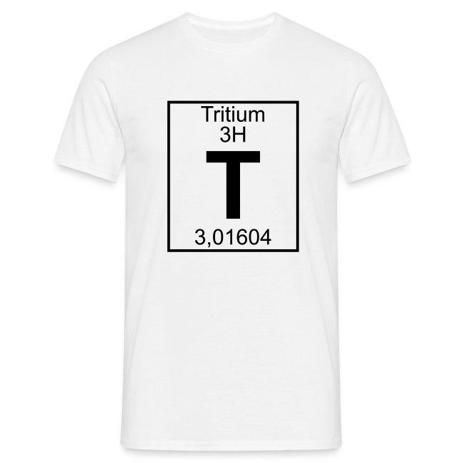 Periodic Table Words Tritium T Element 3h Full 1 Col Shirt