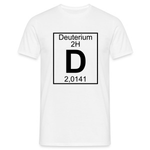 Deuterium (D) (element 2H) - Full 1 col Shirt - Men's T-Shirt