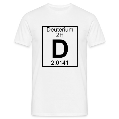 Deuterium (D) (element 2H) - Full 1 col Shirt - Men's T-Shirt