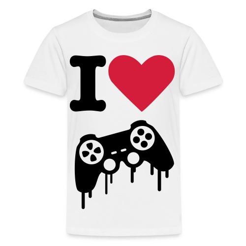T-shirt I Love Gaming - Teenager premium T-shirt