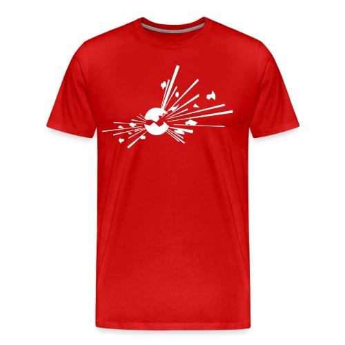 Räjähde, valkoinen merkki - Miesten premium t-paita