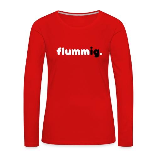 FLUMMIG. Långärmade T-shirts - Långärmad premium-T-shirt dam