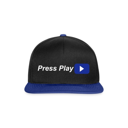 Press Play Cap blau/schwarz - Snapback Cap