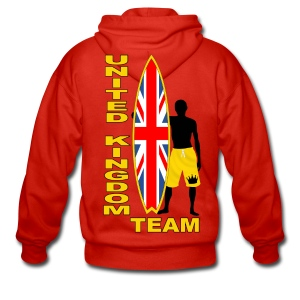 UK surfing team  - Men's Premium Hooded Jacket
