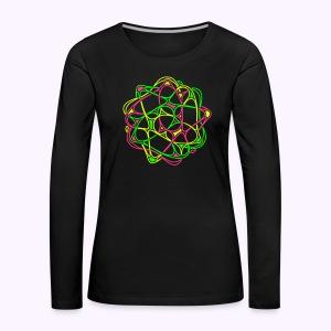 Cyber-Twister-2 Women's long sleeve shirt - Women's Premium Longsleeve Shirt