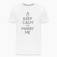 keep calm marry me T-Shirts