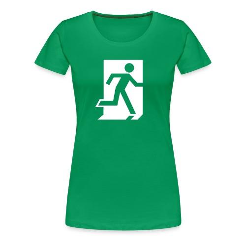 Hätäuloskäynti - Naisten premium t-paita