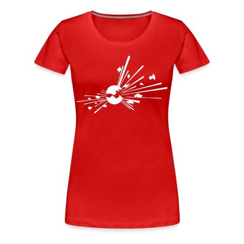 Räjähde, valkoinen merkki - Naisten premium t-paita