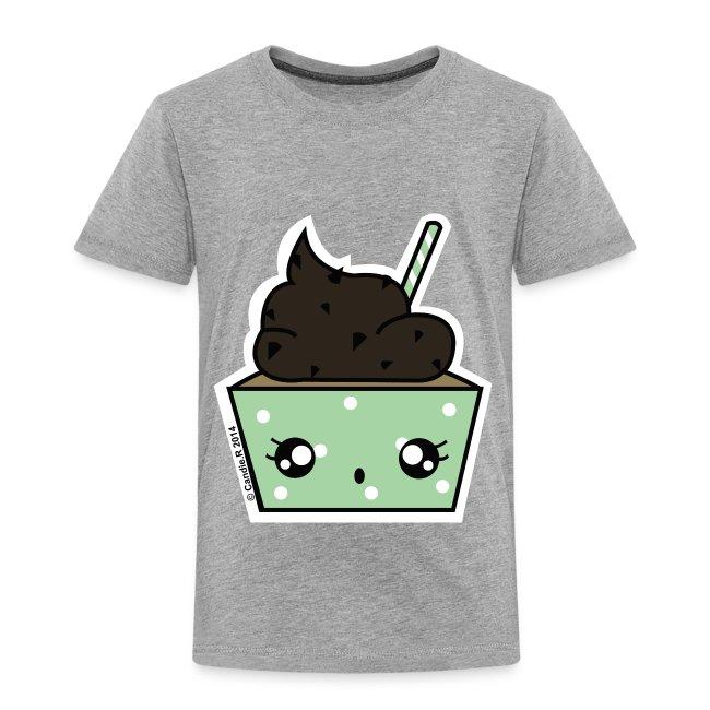 t shirt prenium Enfant Cupcake choco-menthe