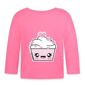 T shirt bébé manches longues Cupcake Coeurs - T-shirt manches longues Bébé