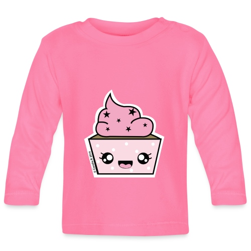 T shirt bébé manches longues Cupcake Stars - T-shirt manches longues Bébé