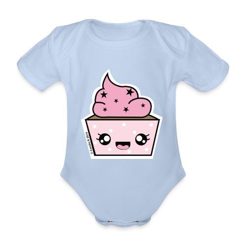 T shirt bébé manches courtes Cupcake Stars - Body bébé bio manches courtes