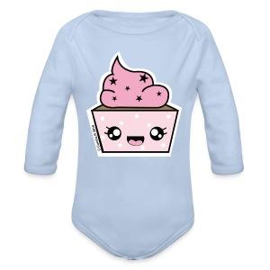 Body bébé manches longues Cupcake Stars - Body bébé bio manches longues
