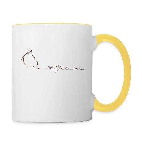 MPS Logoschriftzug Brown Back: mitpferdensein.de Brown Coulored Cup - Tasse zweifarbig