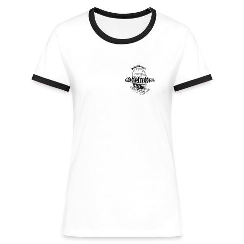 Woman Kontrast T-shirt Globetrotter - Frauen Kontrast-T-Shirt