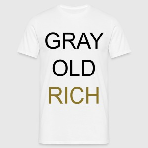 Gray Old Rich T-shirts - Herre-T-shirt