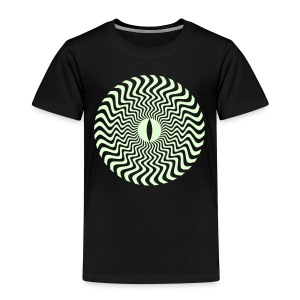Flowing Sun Eye - Glow In The Dark - Kinderen Premium T-shirt