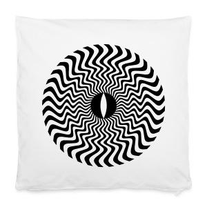 Flowing Sun Eye - Black Flock Print - Kussensloop 40 x 40 cm