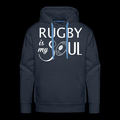 Sweat Rugby is my Soul - Sweat-shirt à capuche Premium pour hommes