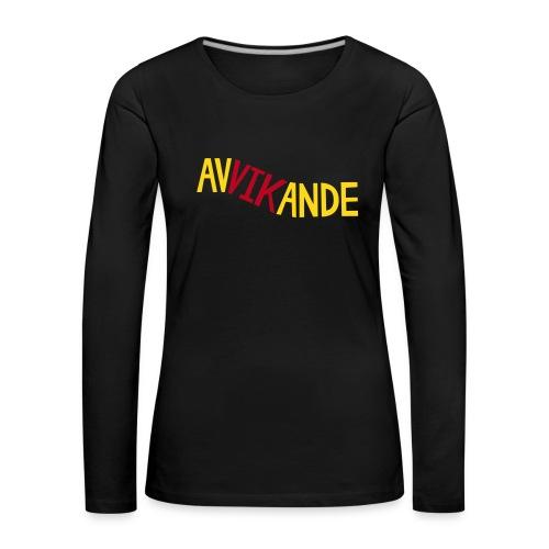 AVVIKANDE Långärmade T-shirts - Långärmad premium-T-shirt dam