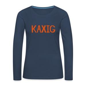 KAXIG Långärmade T-shirts - Långärmad premium-T-shirt dam