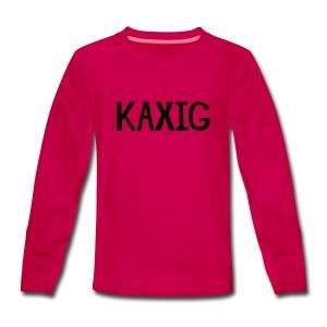 KAXIG Långärmade T-shirts - Långärmad premium-T-shirt tonåring