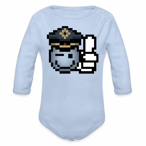 copzone smiley Baby Body lang - Baby Bio-Langarm-Body
