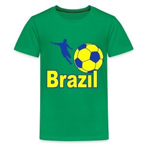 Brazil sport 05 - Teenage Premium T-Shirt