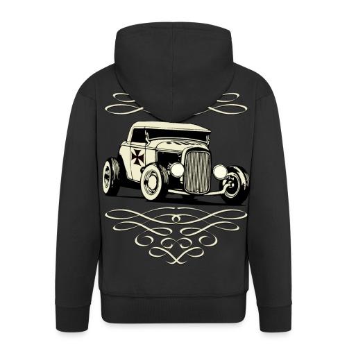 US Old Car - Men's Premium Hooded Jacket