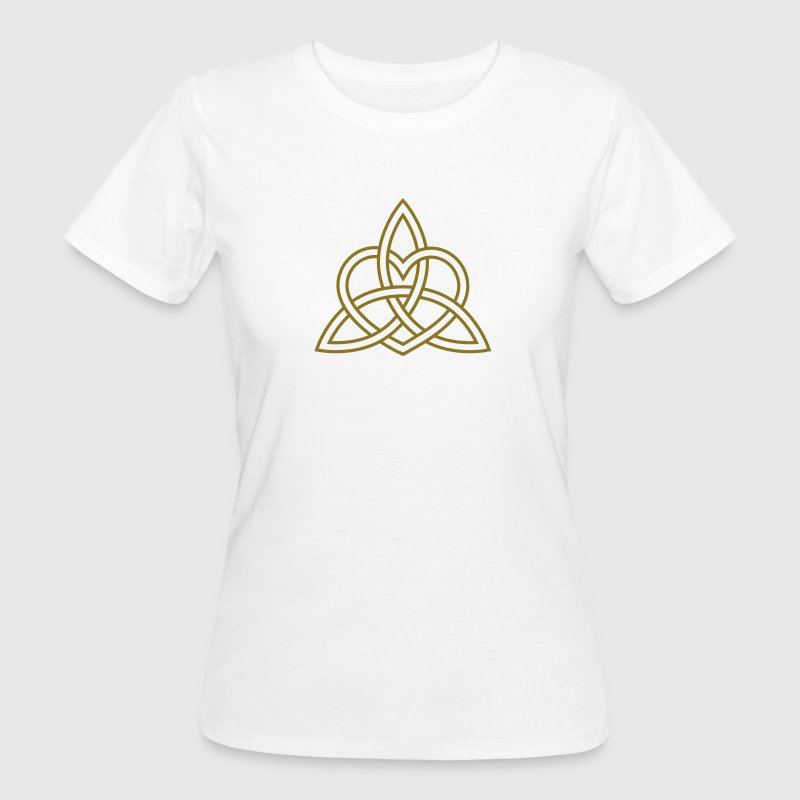 Celtic Heart Triquetra Trinity God Christ Spirit T-shirts - Ekologisk T-shirt dam