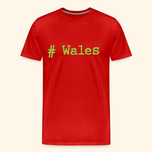 'Hash tag' Wales - Men's Premium T-Shirt