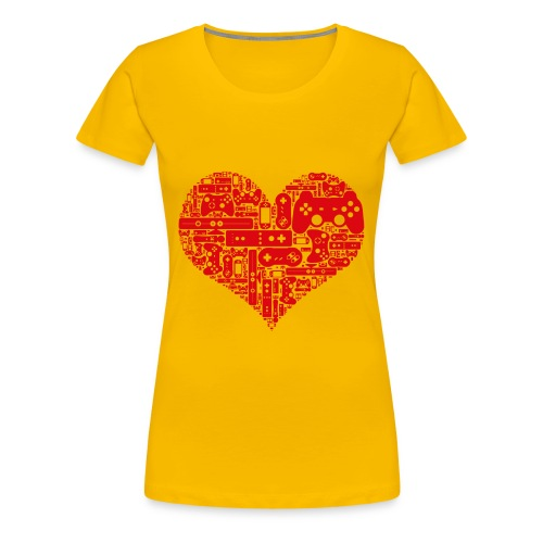 Coeur de Geek - T-shirt Premium Femme