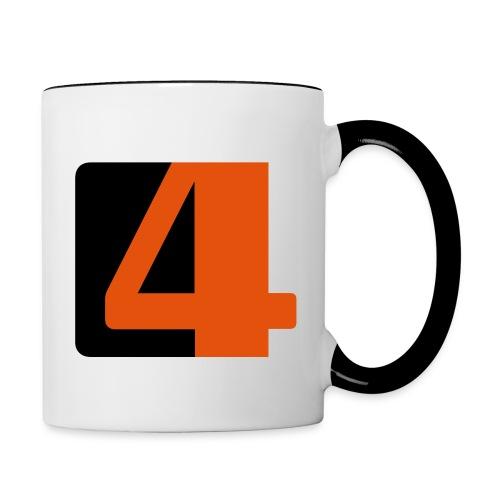 The 4 Tasse - Tasse zweifarbig