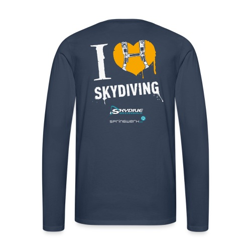 We love Skydiving - Männer Premium Langarmshirt