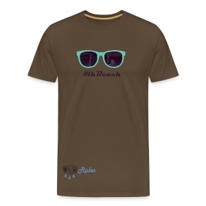 LH Rules Collector #LHBeach H rond (Marron) - T-shirt Premium Homme